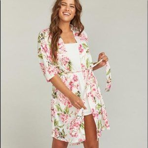 Show Me Your Mumu Brie Robe, Garden of Blooms, OS
